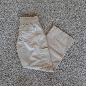 Scrub Pants XS Petite Khaki
